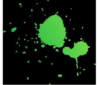 Farb Splash Apfelgrün