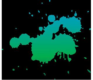 Farb Splash Grünblau